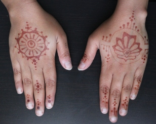 48 hours post-henna art